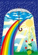 Umbrella,Rain,Rainbow,Sun,F...