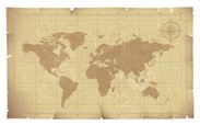 Map,World Map,Old,Globe - M...