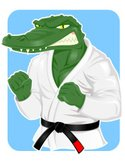Crocodile,Karate,Judo,Black...