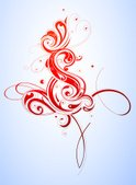 Calligraphy,Swirl,Floral Pa...