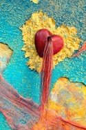 Turquoise,Mixed Media,Heart...