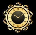 Clock,Gold,Gold Colored,Clo...