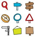 Compass,Road Sign,Sign,Dood...