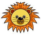 Animal,Cartoon,Lion - Felin...