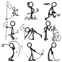 Stick Figure,Golf,Competiti...