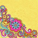 Psychedelic,1960s Style,Flowe…
