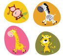 Animal,Giraffe,Cartoon,Zebra,…