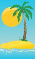 Palm Tree,Sun,Ilustration,I...