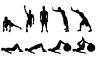 Silhouette,Stretching,Sport...