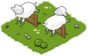 Isometric,Meadow,Sheep,Farm...