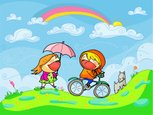 Cycling,Child,Family,Friend...