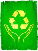 Recycling Symbol,Gold Color...