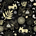 Wallpaper,Elephant,Pattern,...