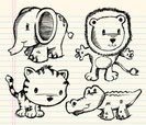 Elephant,Tiger,Alligator,Dood…