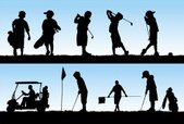 Golf,Child,Silhouette,Back Li…