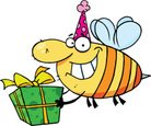 Birthday,Bee,Insect,Vector,...