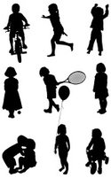 Child,Silhouette,Sport,Tenn...
