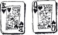 Cards,King,Queen,Heart Suit...
