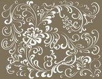Vector,Scroll Shape,Floral Pa…