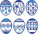 Easter,Eggs,Isolated,Blue,P...