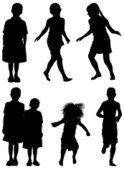 Child,Silhouette,Outline,Ba...