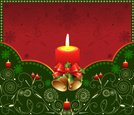Christmas,Candle,Frame,Bow,...