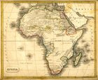 Map,Africa,Old,Old-fashione...