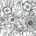 Sunflower,Pattern,Flower,Ef...