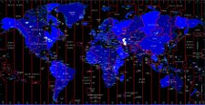 Time Zone,World Map,Map,Tim...
