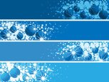 Banner,Christmas,Blue,Set,S...