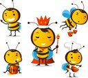 Bee,Insect,Cartoon,Chef,Que...