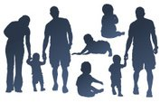 Baby,Silhouette,Family,Chil...