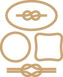 Rope,Tied Knot,Frame,Vector...