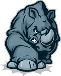 Rhinoceros,Mascot,Animal,Ch...
