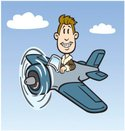 Airplane,Pilot,Cartoon,Flyi...