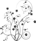 Flower,Floral Pattern,Black...