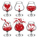 Wine,Splashing,Heart Shape,Sh…