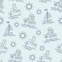 Child,Seamless,Pattern,Sail...