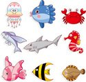 Fish,Cute,Cartoon,Crab,Anim...
