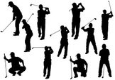 Golf,Silhouette,Back Lit,Ve...