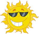 Sun,Cartoon,Sunglasses,Smil...