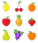 Fruit,Cartoon,Grape,Apple -...