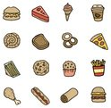 Food,Cartoon,Drink,Icon Set...