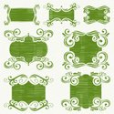 Frame,Swirl,Green Color,Orn...