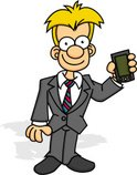 Cartoon,Men,Business,Suit,M...