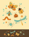 Bee,Butterfly - Insect,Lady...