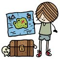 Treasure Chest,Map,Explorat...