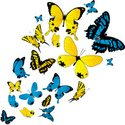 Insect,Blue,Yellow,Butterfl...