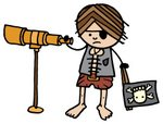 Pirate,Hand-Held Telescope,...