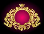 Frame,Gold Colored,Baroque ...